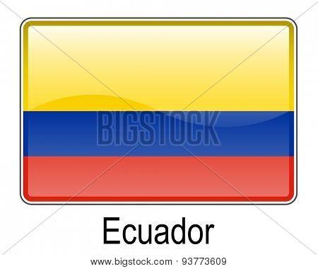 ecuador official flag, button flag
