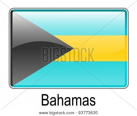bahamas official state button flag