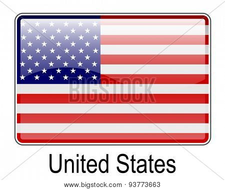 united states official flag, button flag
