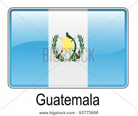 guatemala official flag, button flag