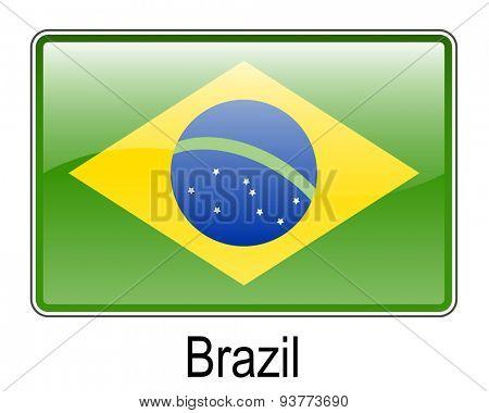 brazil official flag, button flag