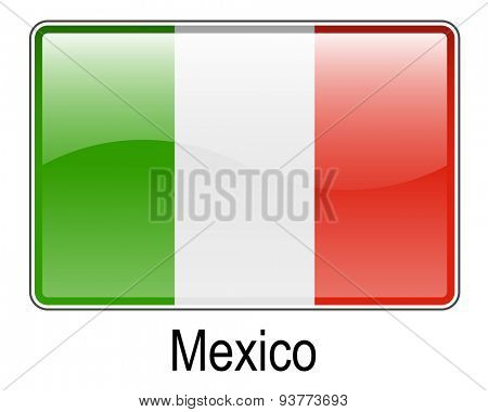 mexico official flag, button ball