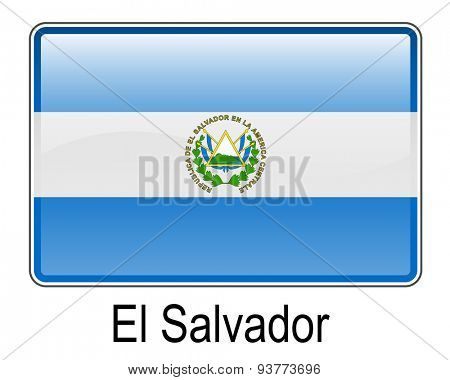 el salvador official flag, button flag