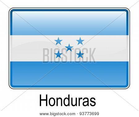 honduras official flag, button flag