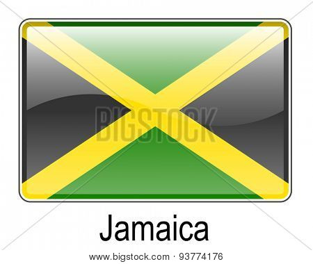 jamaica official state button flag