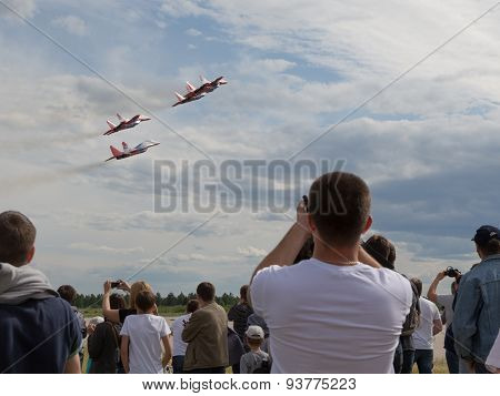 Swifts Aerobatic Team Flight