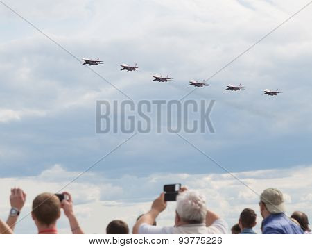 Six Aircraft Aerobatic Team Swifts