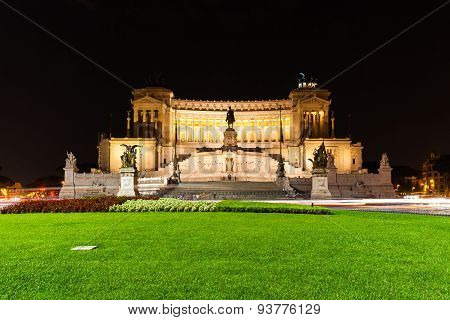 Night View Of Altar Of Fatherland