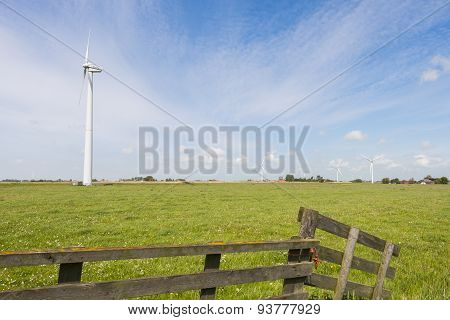 Modern Windmill In Friesland