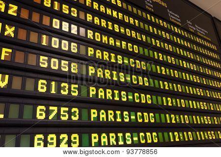 Departure Arrival Board