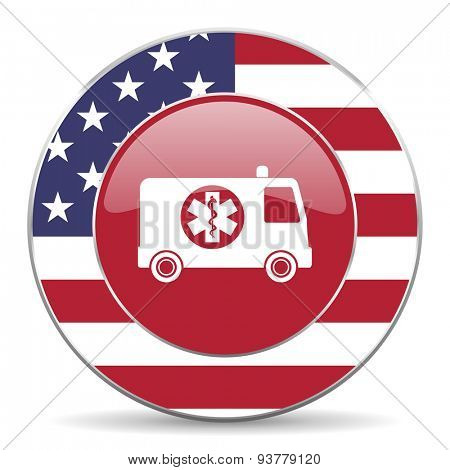 ambulance american icon original modern design for web and mobile app on white background