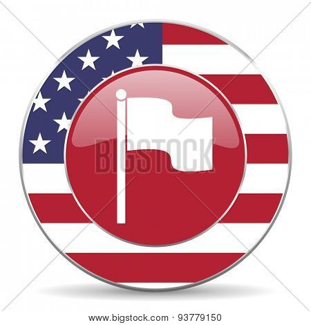 flag american icon original modern design for web and mobile app on white background