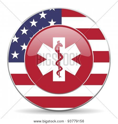 emergency american icon original modern design for web and mobile app on white background
