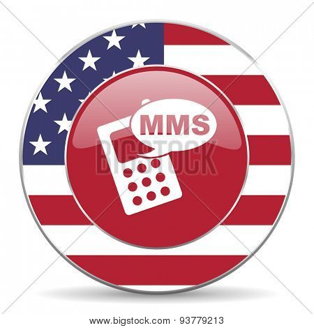 mms american icon original modern design for web and mobile app on white background