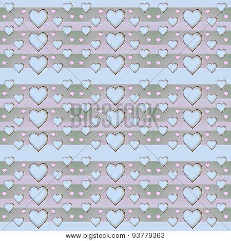 Heart Pattern In Pastel Tones
