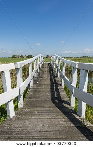 Picturesque Bridge At Workum Friesland