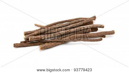 Small Pile Of Liquorice Root