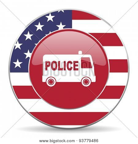 police american icon original modern design for web and mobile app on white background