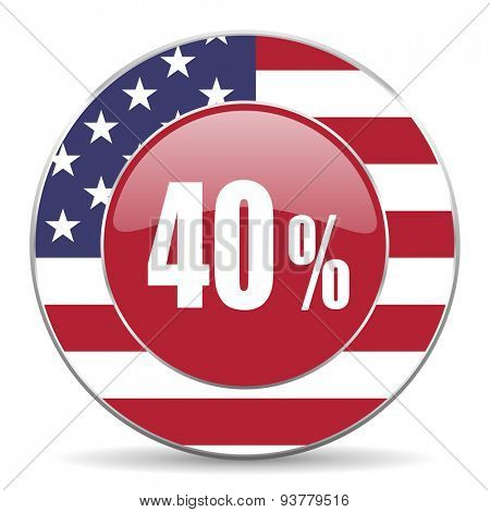 40 percent original american design modern icon for web and mobile app on white background