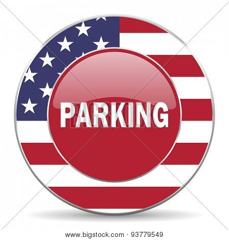 parking american icon original modern design for web and mobile app on white background