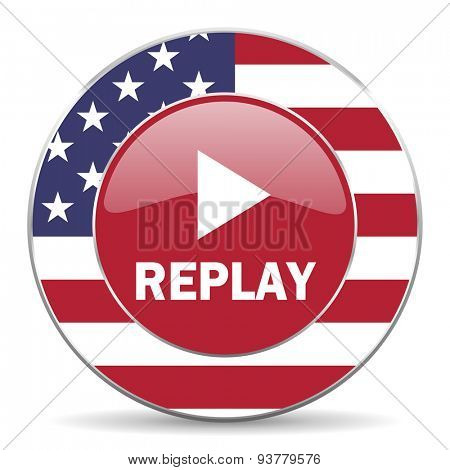 replay american icon original modern design for web and mobile app on white background