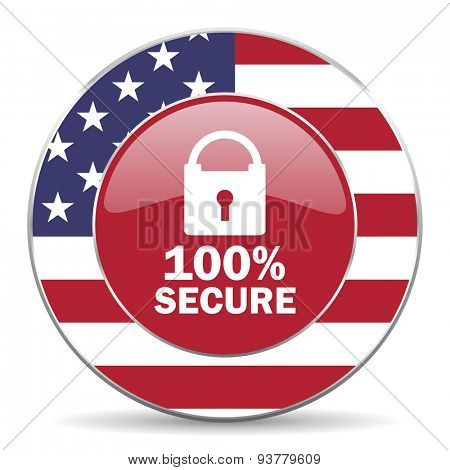 secure american icon original modern design for web and mobile app on white background