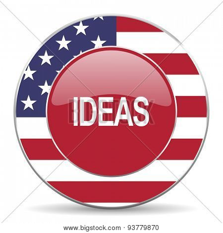 ideas american icon original modern design for web and mobile app on white background