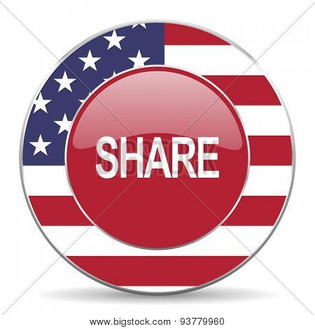share american icon original modern design for web and mobile app on white background