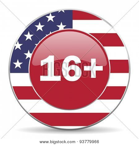 adults american icon original modern design for web and mobile app on white background