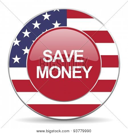 save money american icon original modern design for web and mobile app on white background