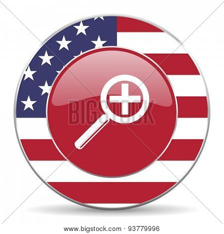 lens american icon original modern design for web and mobile app on white background