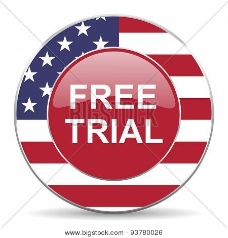 free trial american icon original modern design for web and mobile app on white background