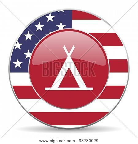 camp american icon original modern design for web and mobile app on white background