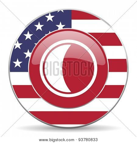 moon american icon original modern design for web and mobile app on white background