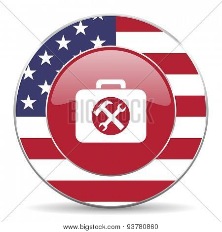 toolkit american icon original modern design for web and mobile app on white background
