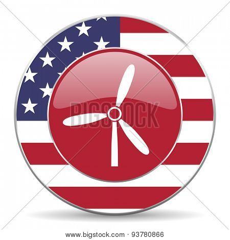 windmill american icon original modern design for web and mobile app on white background