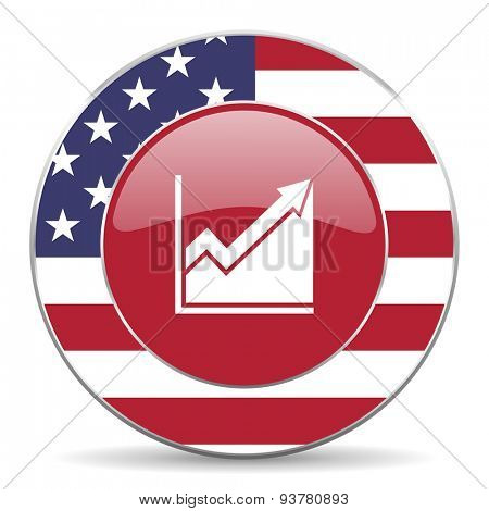 histogram american icon original modern design for web and mobile app on white background
