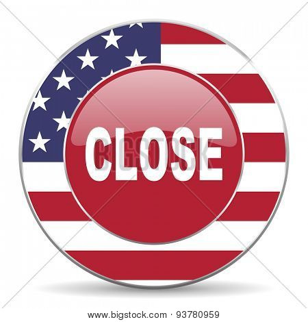 close american icon original modern design for web and mobile app on white background