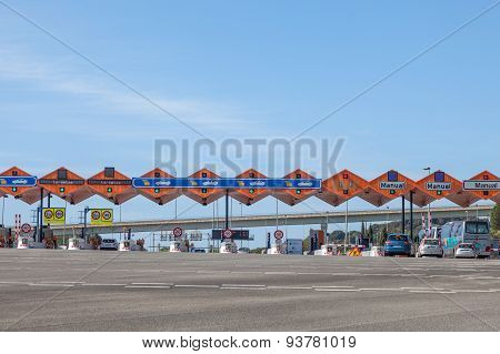 Toll Gate At The Highway