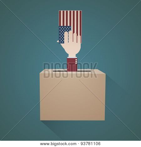 Vote USA Hand