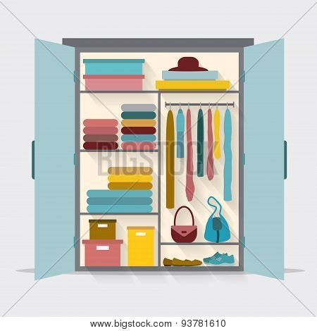 Wardrobe for cloths