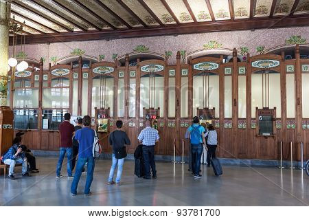 Ticket Counter In Valencia Train Station