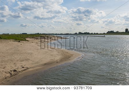 River Waal And Beach