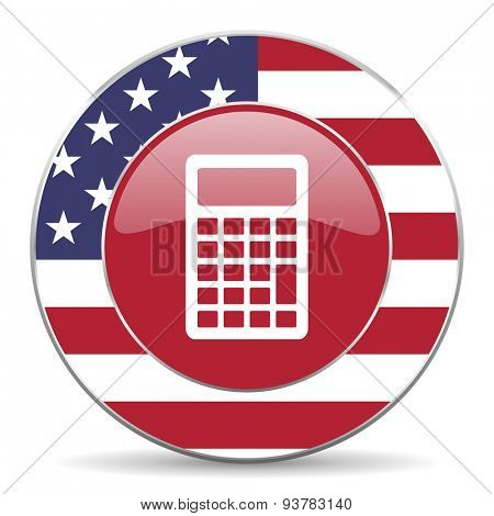 calculator american icon original modern design for web and mobile app on white background