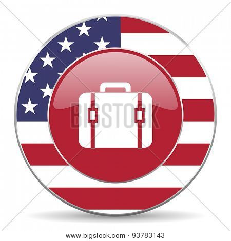 bag american icon original modern design for web and mobile app on white background