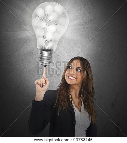 Businesswoman brainstorm