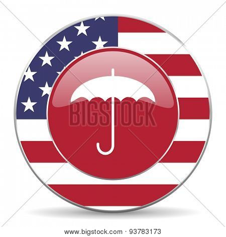 umbrella american icon original modern design for web and mobile app on white background