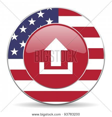 upload american icon original modern design for web and mobile app on white background
