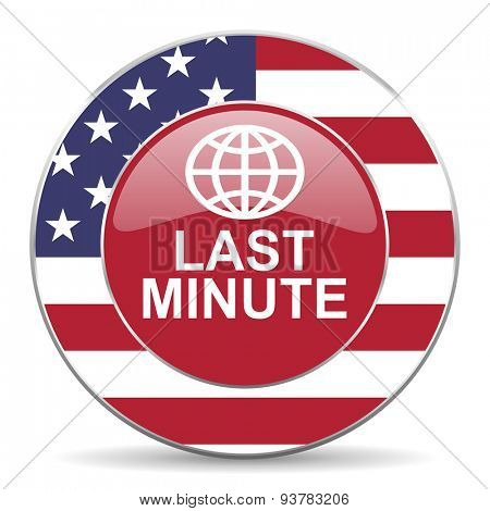 last minute american icon original modern design for web and mobile app on white background