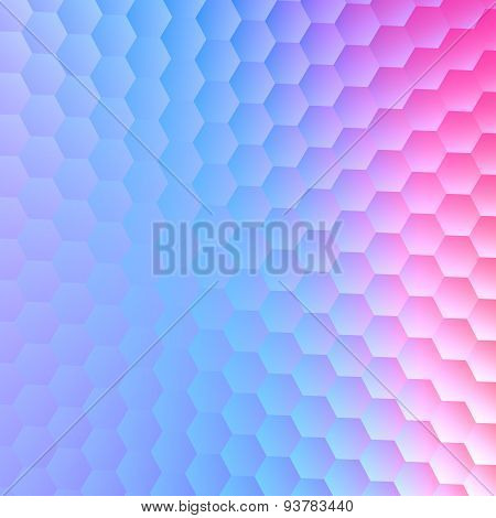Tranquil hexagonal blue purple background. Abstract pattern for illustration design. For paper card.